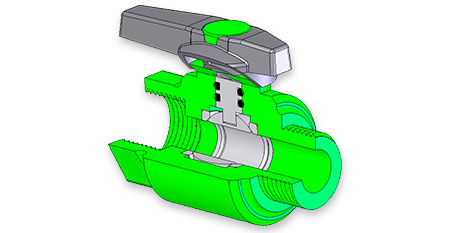 EzeeFlow plastic ball valves as manufactured by Plastinternational