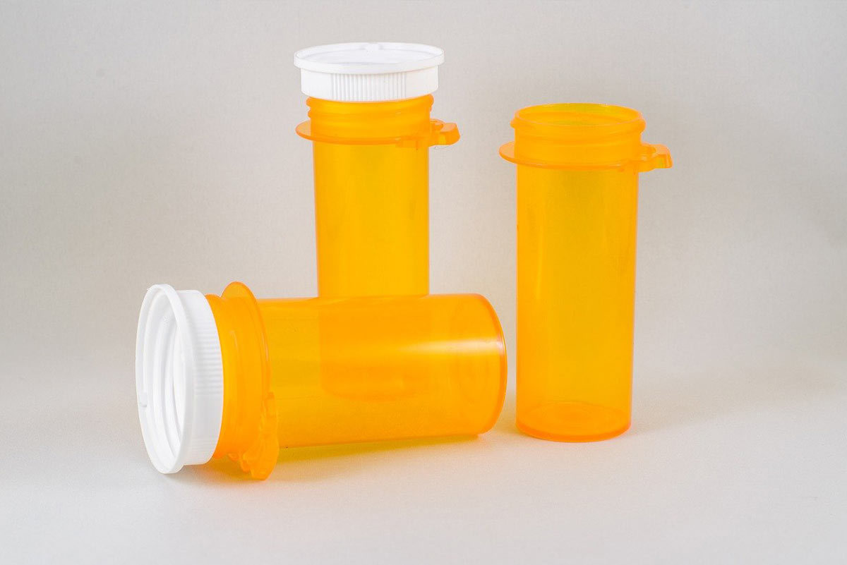 Picture of medicine containers for blog on different types of materials