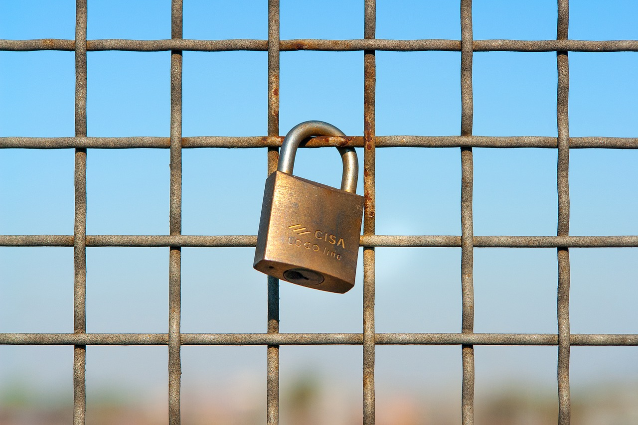 Metal fencing with padlock for blog on Plastic vs Metal